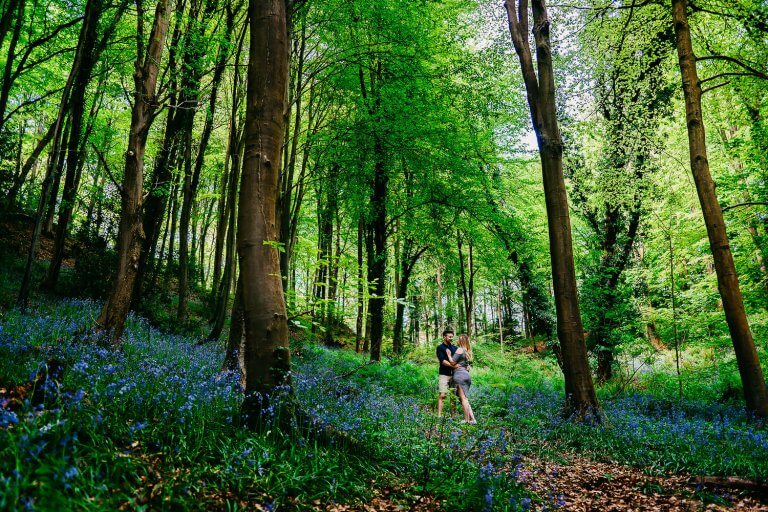 A Hunt for the Bluebells of Leigh Woods Part One | Chloe and Jake Pre-Wedding Shoot Sneak Peek